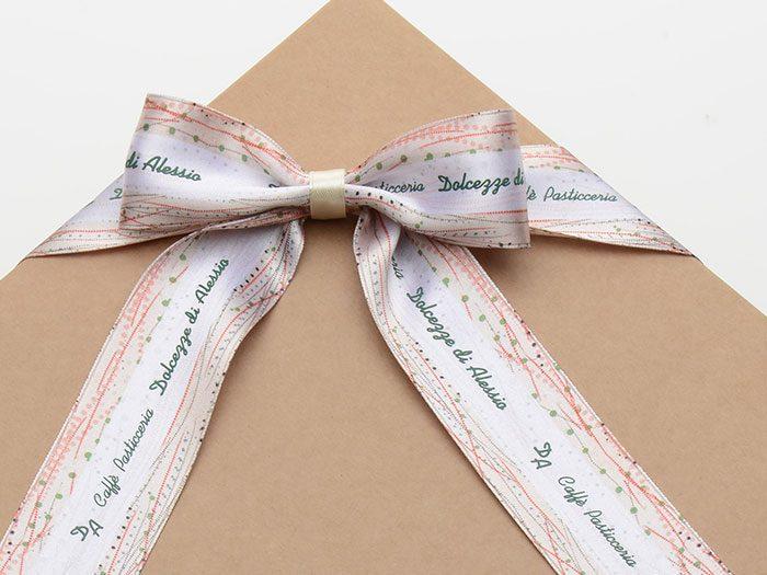 nastro personalizzato scatola pasticceria